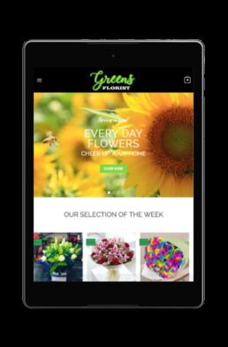 greens florist responsive web design